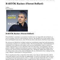 critique CD Bartok Racines Gramophone